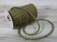 Jute rope natural-green, diameter 6mm, step of color 1+1+1+1, 25 meters 2