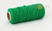 Шпагат бавовняний кольоровий - темно-зелений, 45 метрів 1