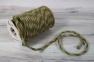 Jute rope natural-green, diameter 6mm, step of color 2+2, 25 meters 2