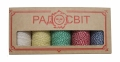 Набір - Шпагат бавовняний кольоровий - 5 штук по ціні 4-х - подарунковий для майстринь 2