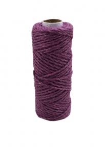 Jute cord purple, 50 meters