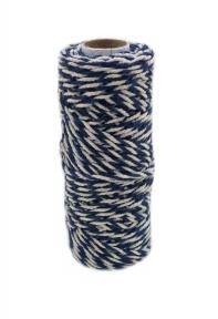 Шнур джут-бавовна синьо-білий, 50 метрів