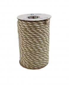 Jute rope natural-white, color 1/1, diameter 6mm, 25 meters