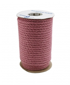 Jute rope sweet powder color, diameter 6mm, 25 meters