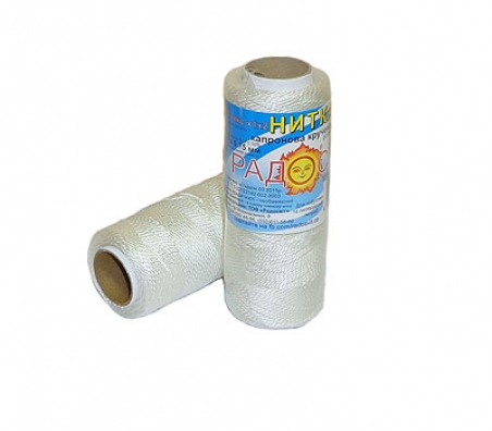 Polyamide thread 375 tex white, 125 meters