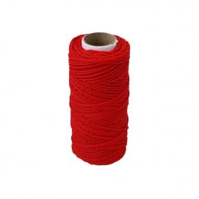 Шнурок поліпропіленовий кручений червоний, 80 метрів
