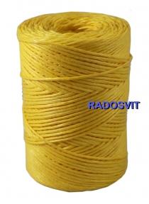 Шпагат поліпропіленовий 2000 текс преміум якості, 200 метрів, жовтий