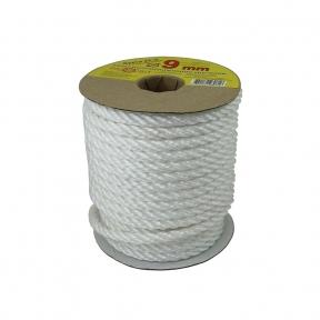 Polypropylene rope 9mm white, 25 meters