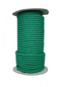 Канат бавовняний зелений, діаметр 5мм, бухта 25м