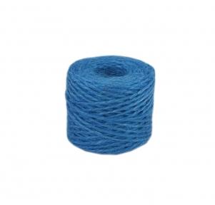 Jute twine in light blue color, 45 meters