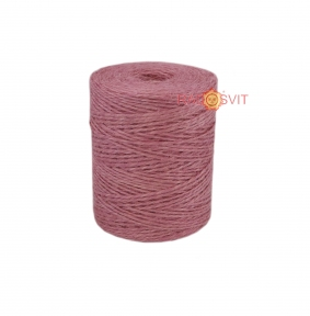Jute twine sweet powder color (light rose), 250 meters