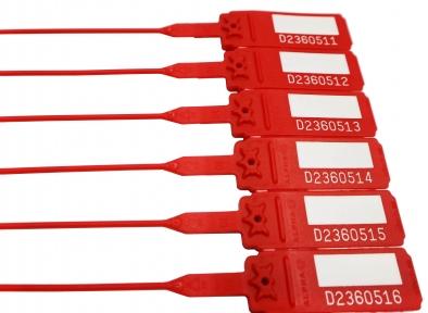 пломба пластикова номерна Альфа-М2 червона