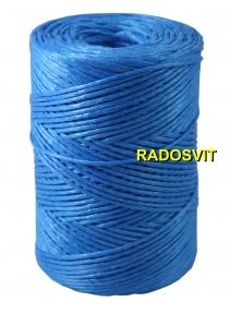 Шпагат поліпропіленовий 2000 текс преміум якості, 200 метрів, синій