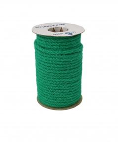 Jute rope in cyan color, diameter 6mm, 25 meters