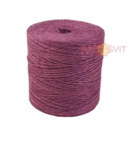Jute twine in light purple color, 350 meters