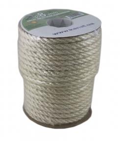 Bleached jute rope, diameter 8mm, coil 25 meters