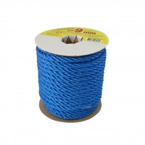 Polypropylene rope diameter 9mm blue, 25 meters