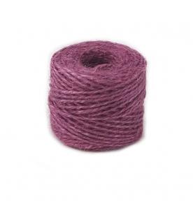 Jute twine in light purple color, 45 meters
