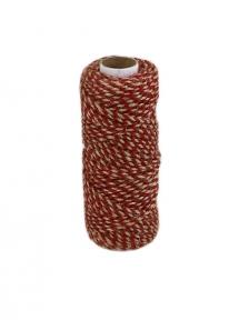 Jute cord natural-red, 50 meters