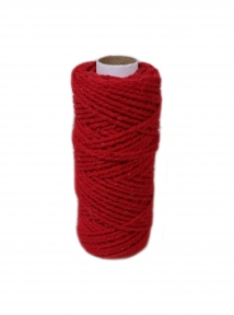 Cotton cord red, 50 meters