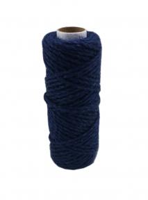 Шнур джутовий кручений синій, 50 метрів