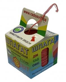 Шпагат поліпропіленовий кольоровий, 100 метрів/бобіна, Twine-fix коробка