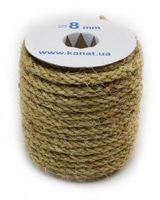 Sisal rope Ø 8mm, 25 meters
