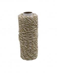 Шнур джут-бавовна натуральний-білий, 50 метрів