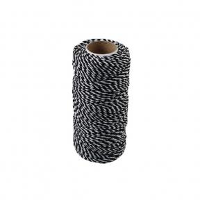 Polypropylene cord white-black, 80 meters