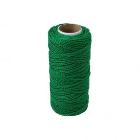 Шнурок поліпропіленовий кручений зелений, 80 метрів