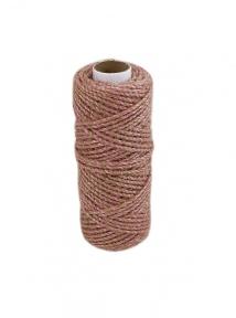 Jute cord natural-sweet powder, 50 meters