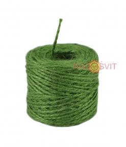 Jute twine in green color, 45 meters
