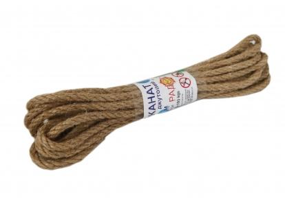 Jute rope, diameter 6mm, 5 meters