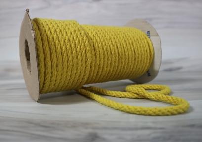 Канат бавовняний жовтий, діаметр 5мм, бухта 25м