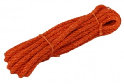 Канат джутовий помаранчевий Радосвіт, діаметр 6мм, моток 5 метрів