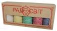 Набір - Шпагат бавовняний кольоровий - 5 штук по ціні 4-х - подарунковий для майстринь